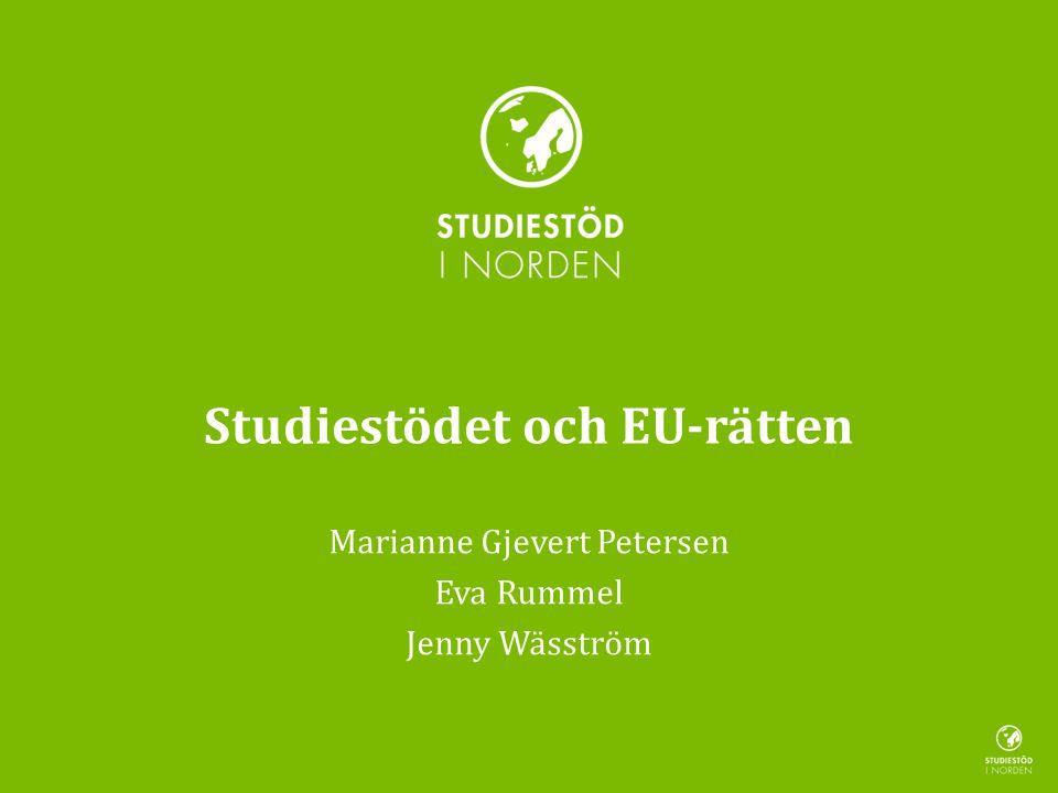 Studiestödet och EU-rätten