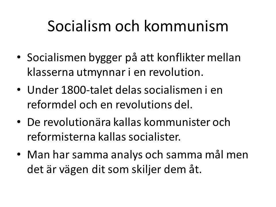 Socialism och kommunism