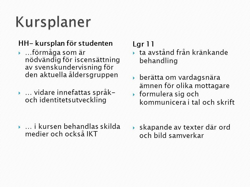 Kursplaner HH- kursplan för studenten