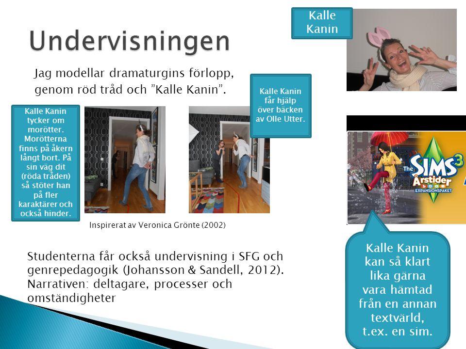 Kalle Kanin får hjälp över bäcken av Olle Utter.
