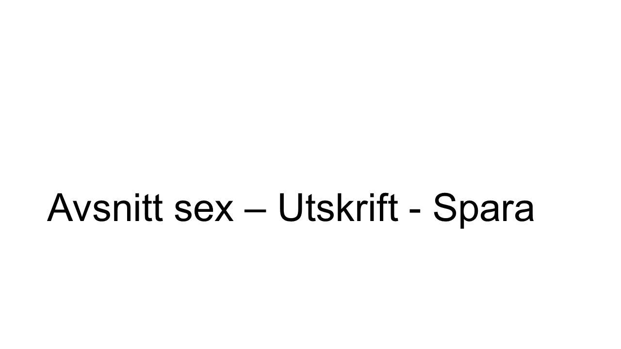 Avsnitt sex – Utskrift - Spara