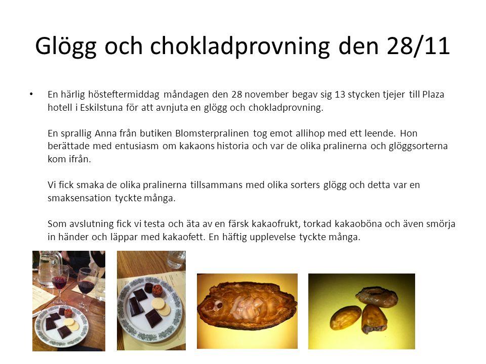 Glögg och chokladprovning den 28/11