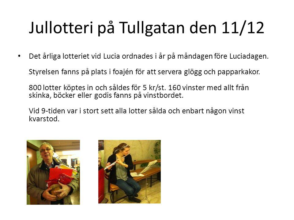 Jullotteri på Tullgatan den 11/12