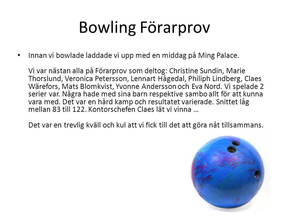 Bowling Förarprov