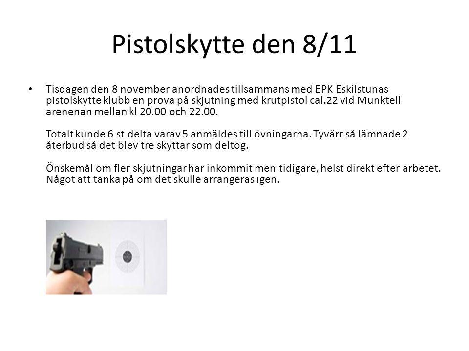 Pistolskytte den 8/11