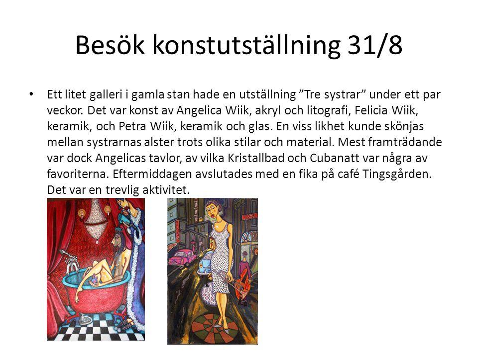 Besök konstutställning 31/8