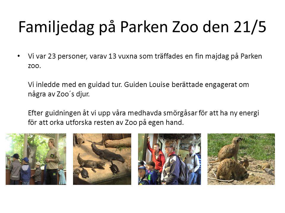 Familjedag på Parken Zoo den 21/5