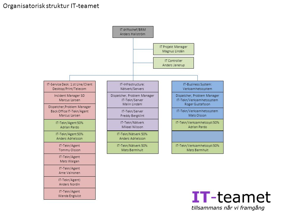 Organisatorisk struktur IT-teamet