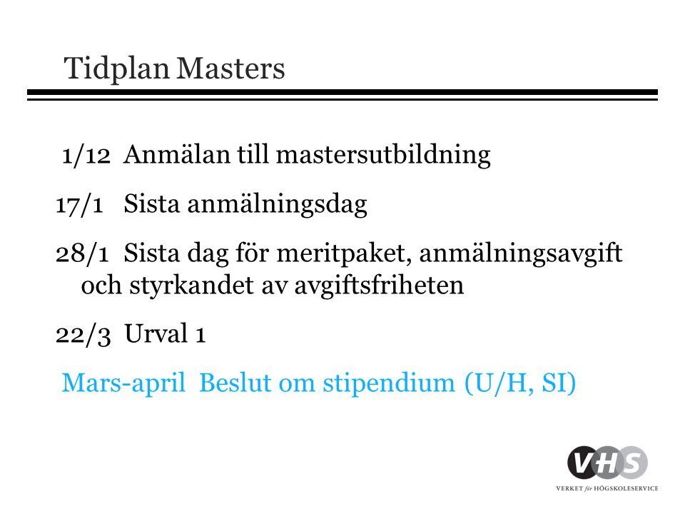 Tidplan Masters