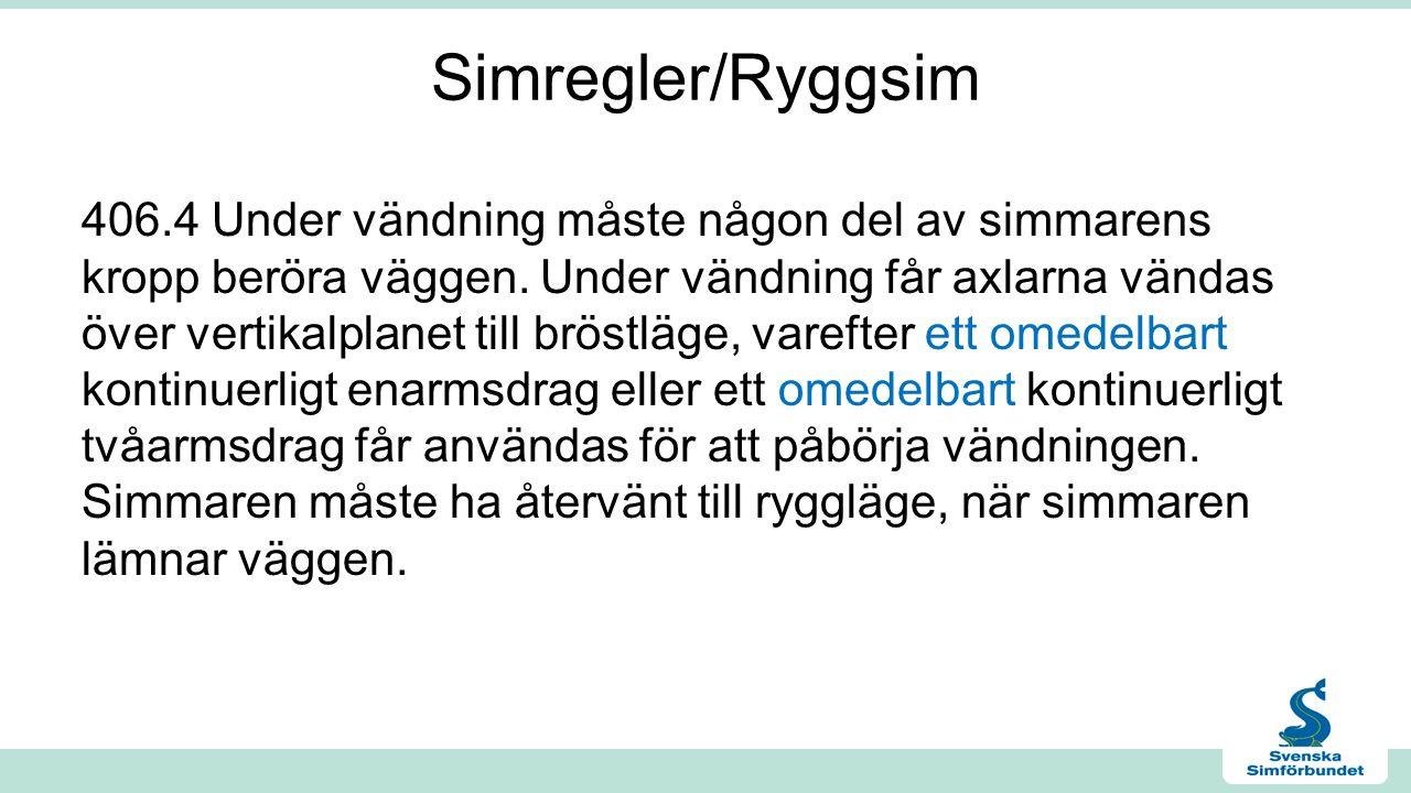 Simregler/Ryggsim