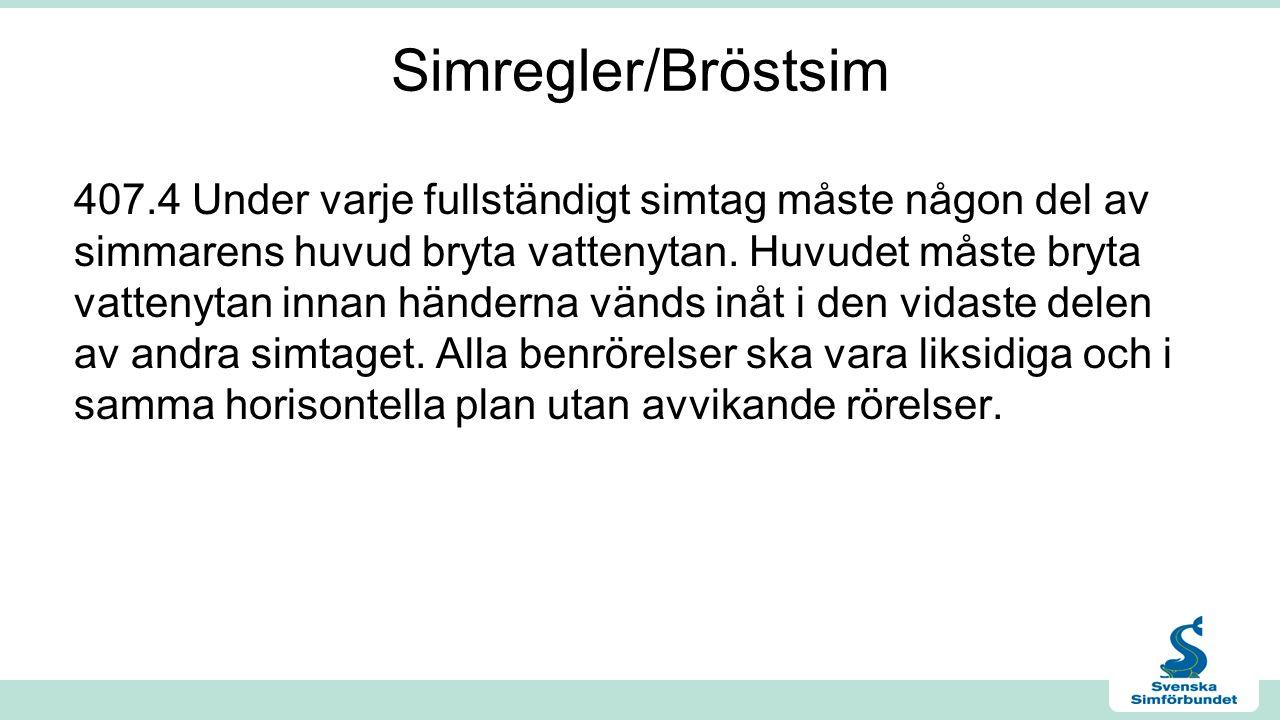 Simregler/Bröstsim