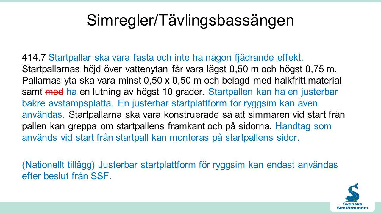 Simregler/Tävlingsbassängen