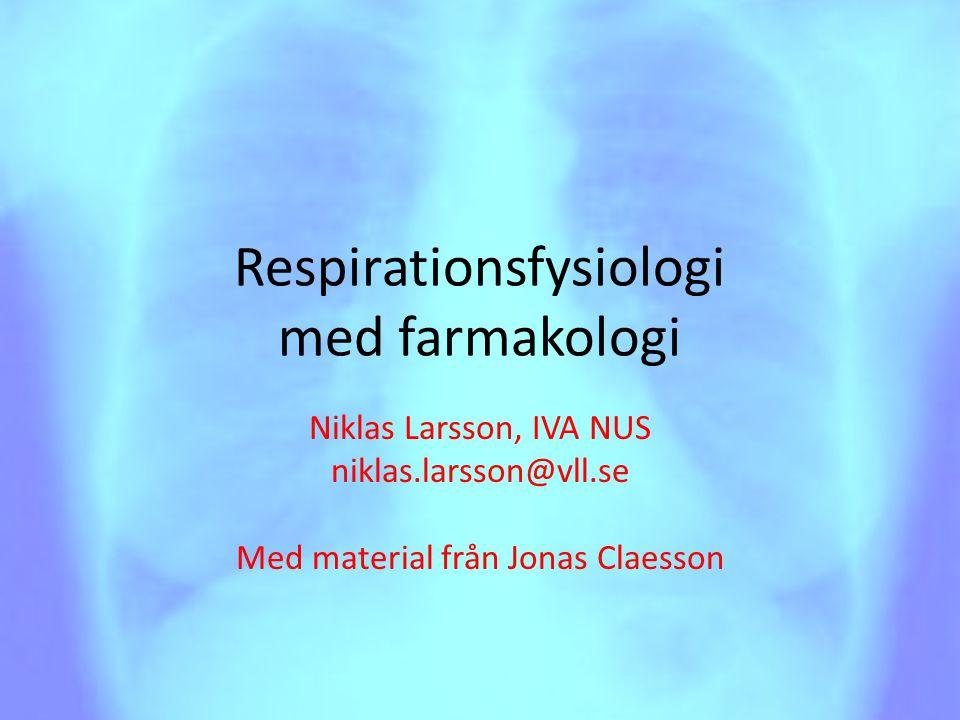 Respirationsfysiologi med farmakologi
