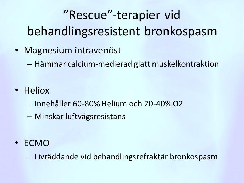 Rescue -terapier vid behandlingsresistent bronkospasm