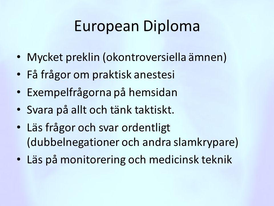 European Diploma Mycket preklin (okontroversiella ämnen)