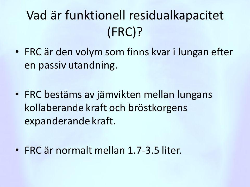 Vad är funktionell residualkapacitet (FRC)