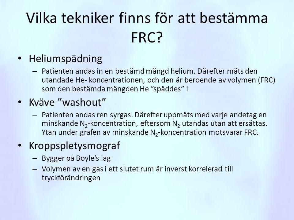 Vilka tekniker finns för att bestämma FRC