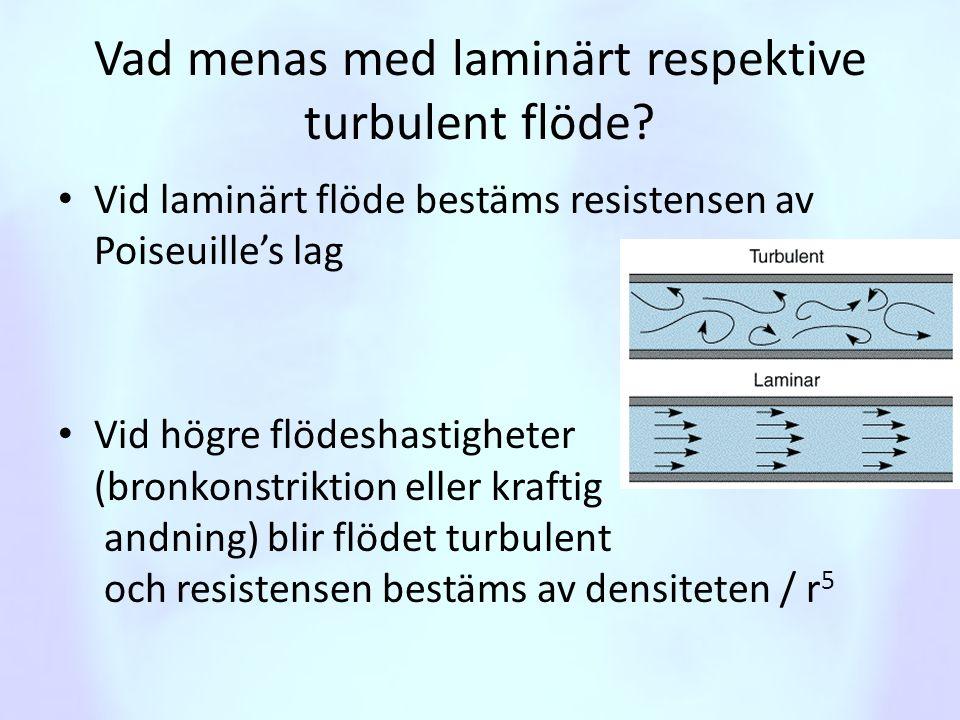 Vad menas med laminärt respektive turbulent flöde