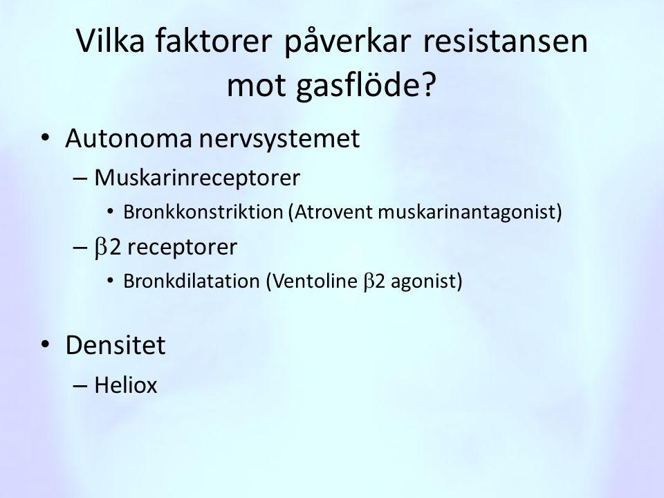 Vilka faktorer påverkar resistansen mot gasflöde