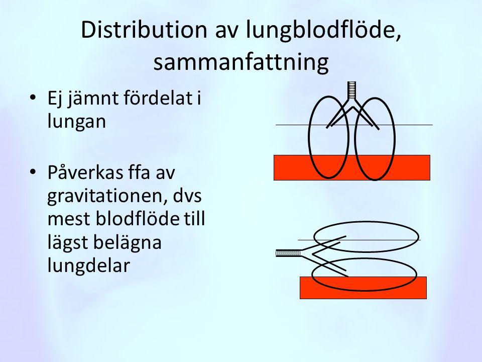 Distribution av lungblodflöde, sammanfattning