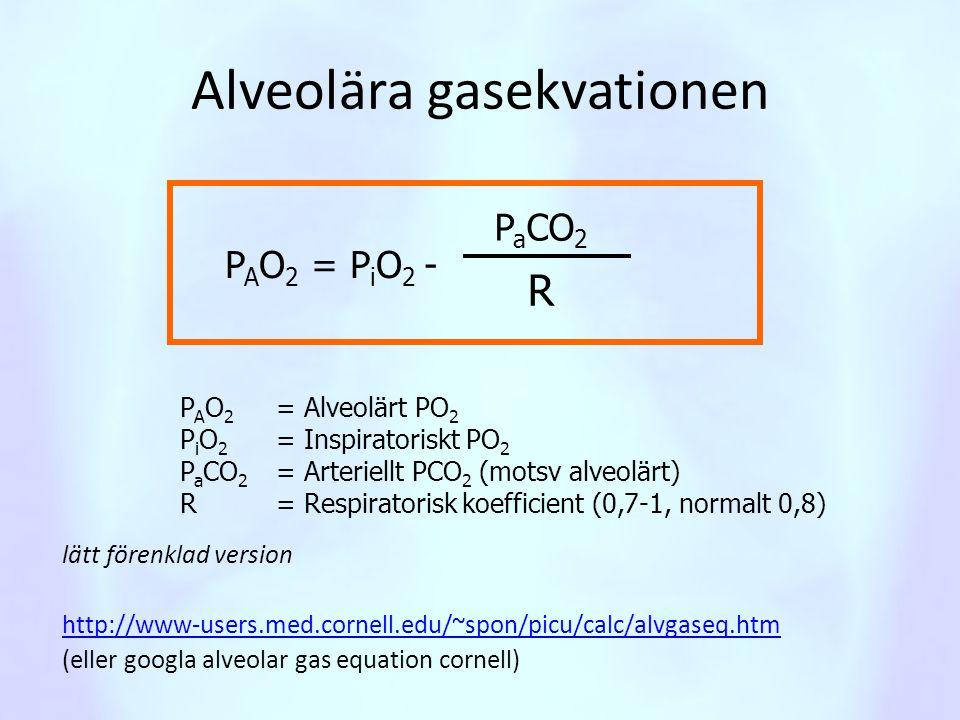 Alveolära gasekvationen