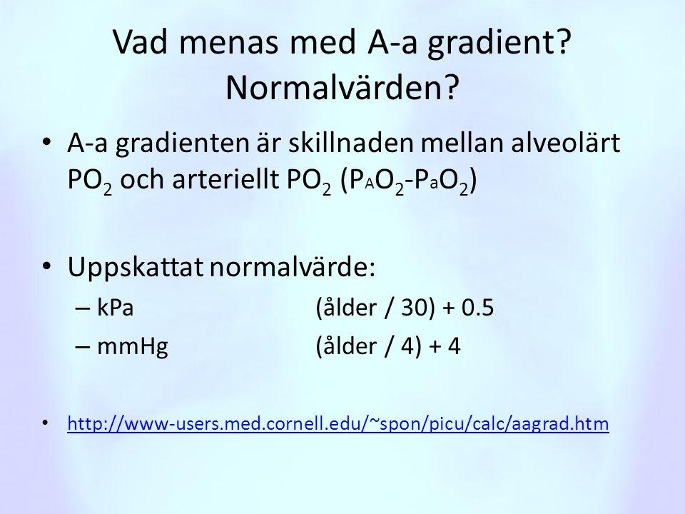 Vad menas med A-a gradient Normalvärden