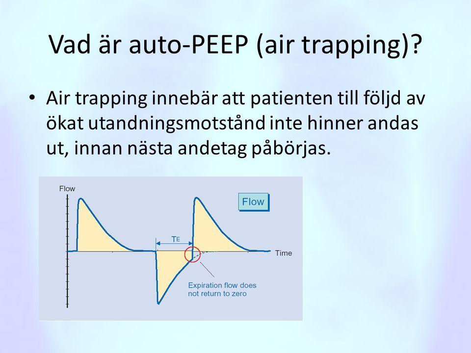 Vad är auto-PEEP (air trapping)