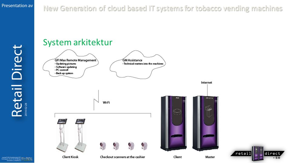 New Generation of cloud based IT systems for tobacco vending machines