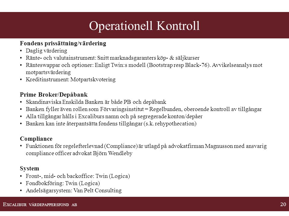 Operationell Kontroll