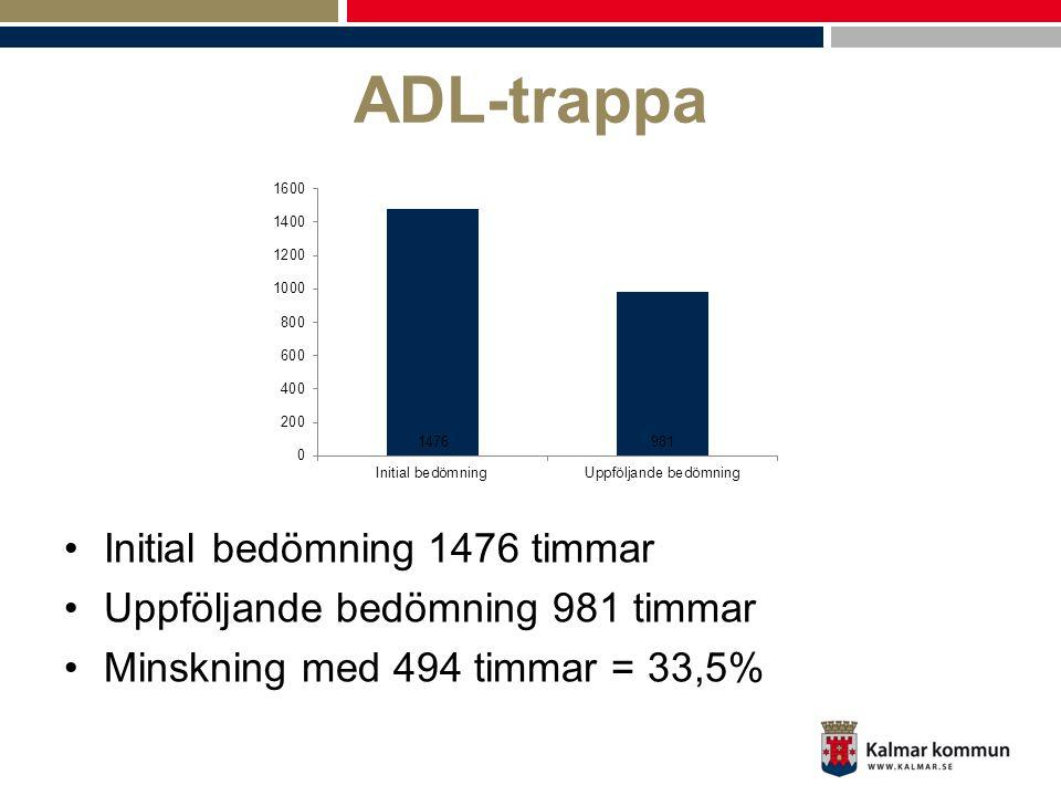 ADL-trappa Initial bedömning 1476 timmar