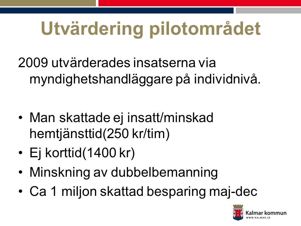 Utvärdering pilotområdet