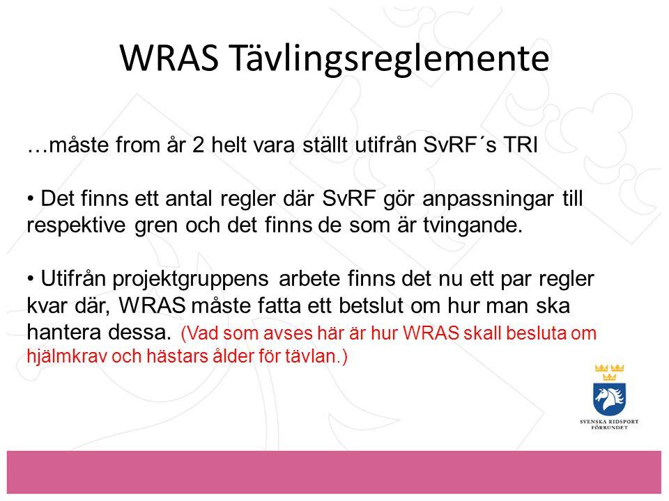 WRAS Tävlingsreglemente