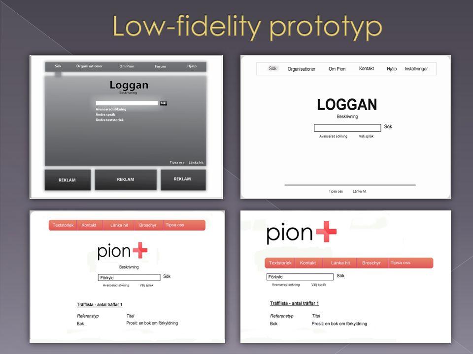 Low-fidelity prototyp