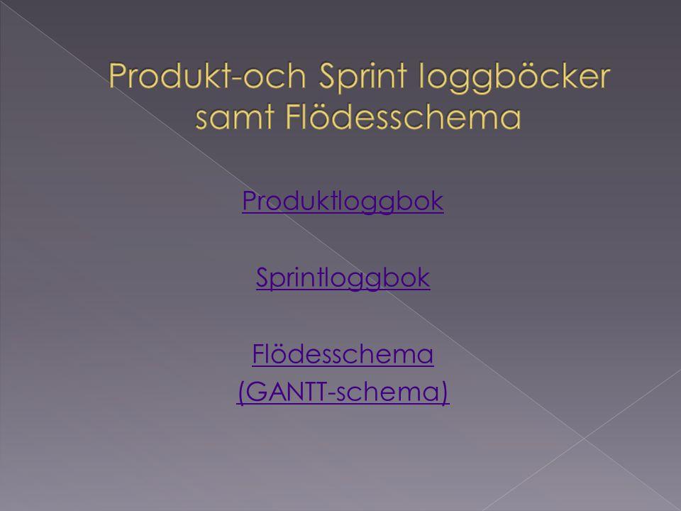 Produkt-och Sprint loggböcker samt Flödesschema