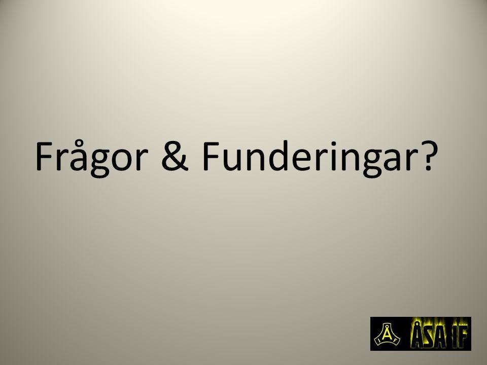 Frågor & Funderingar