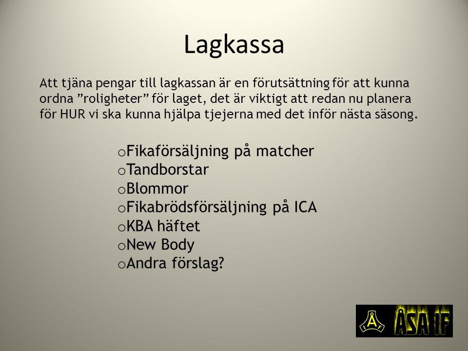 Lagkassa Fikaförsäljning på matcher Tandborstar Blommor