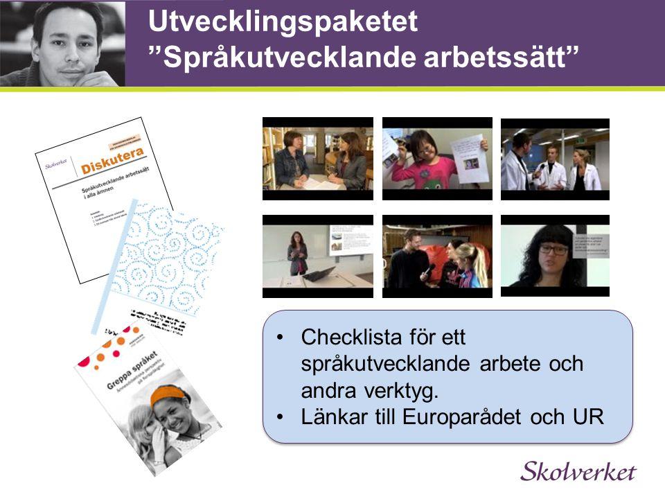 Utvecklingspaketet Språkutvecklande arbetssätt