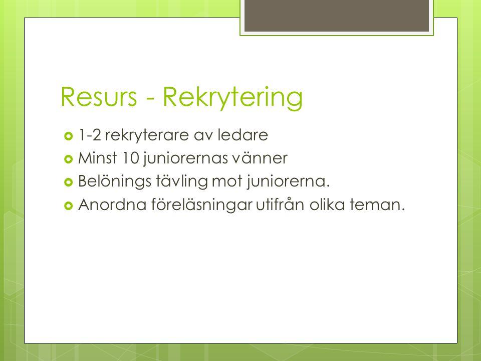Resurs - Rekrytering 1-2 rekryterare av ledare