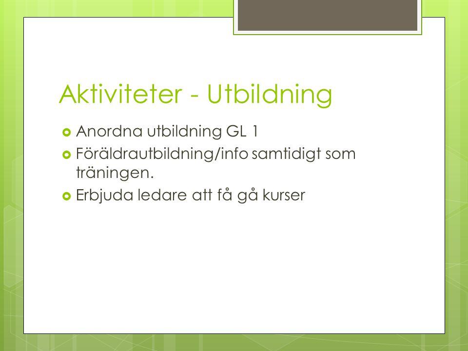 Aktiviteter - Utbildning