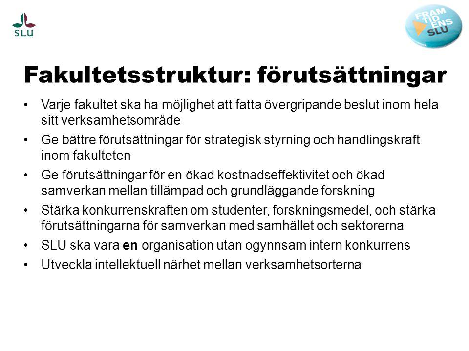 Fakultetsstruktur: förutsättningar
