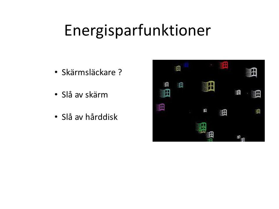 Energisparfunktioner
