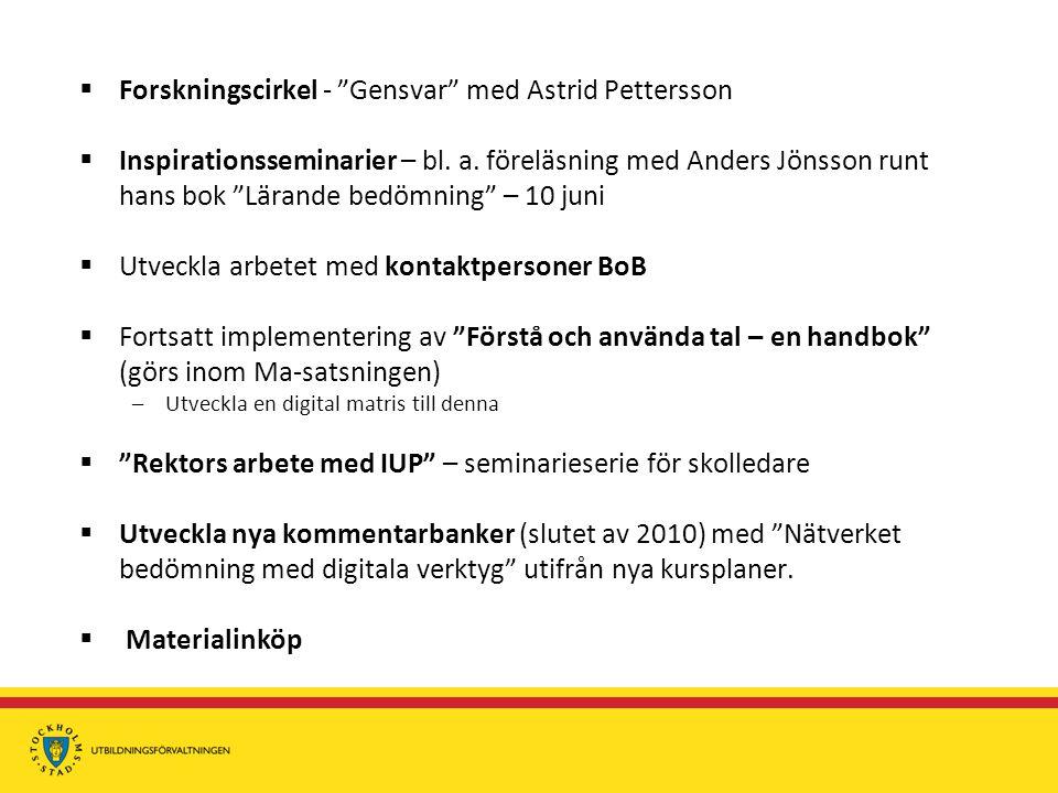Forskningscirkel - Gensvar med Astrid Pettersson