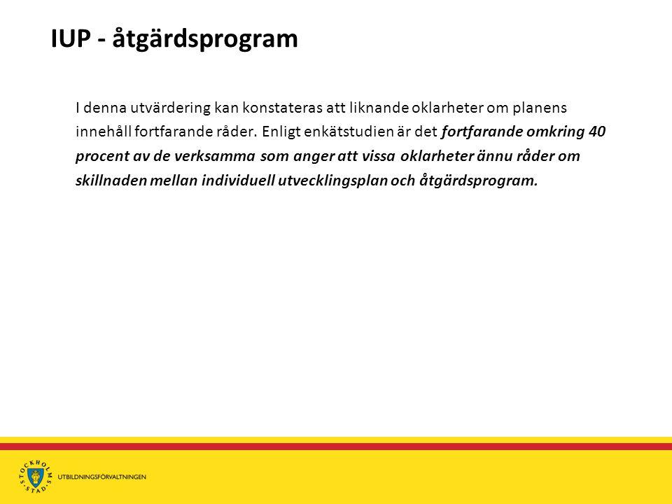 IUP - åtgärdsprogram