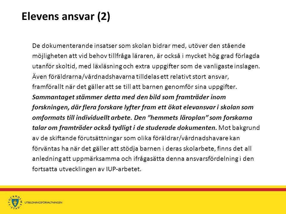 Elevens ansvar (2)