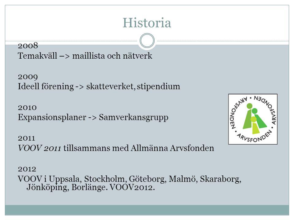 Historia Historia 2008 Temakväll –> maillista och nätverk 2009
