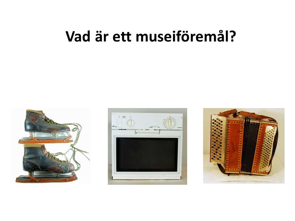 Vad är ett museiföremål