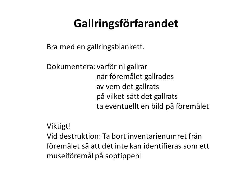 Gallringsförfarandet
