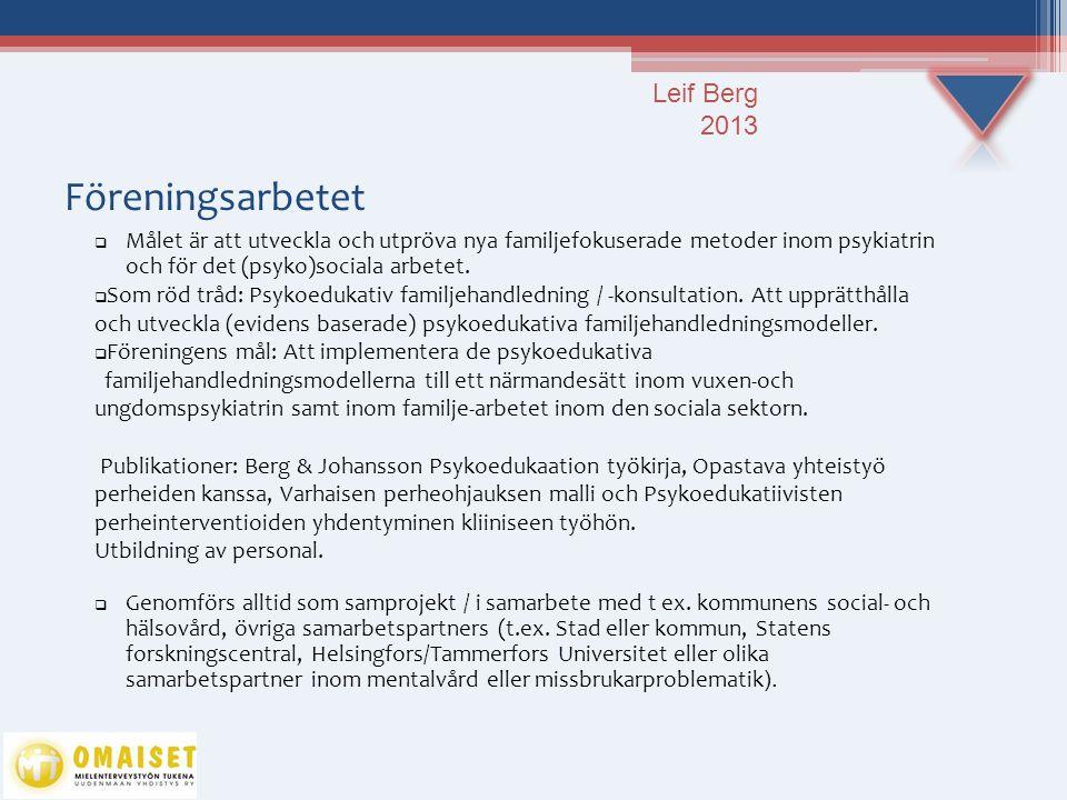 Föreningsarbetet Leif Berg 2013