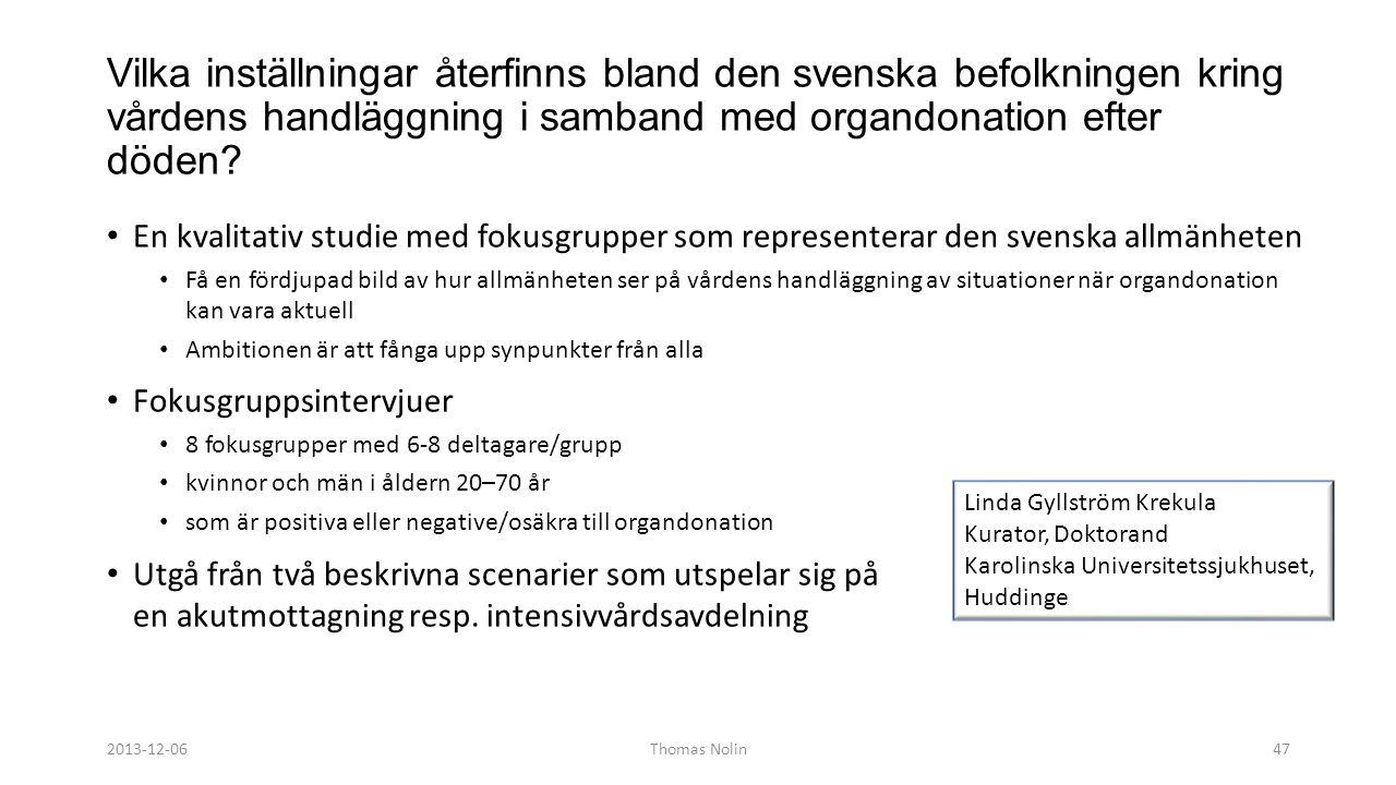 Vardagsetiken på IVA 2013-12-06.