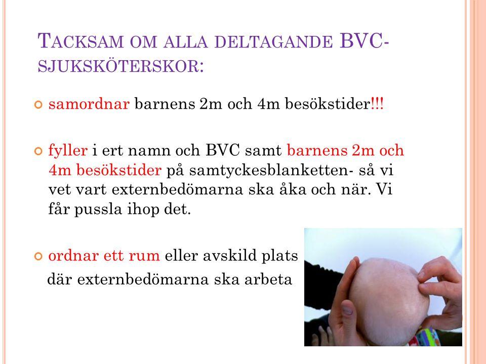 Tacksam om alla deltagande BVC-sjuksköterskor: